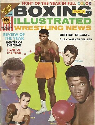1965 February, Boxing Illustrated Magazine, Clay Cover