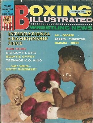 1966 August, Boxing Illustrated Magazine, Ali-Cooper Cover