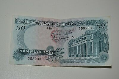 Nice Vietnam 50 Nam Muoi Dong Paper Bill Money Currency 558223
