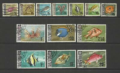 Tanzania ~ 1967 Fish Definitives To 20/- (Part Set) Postally Used