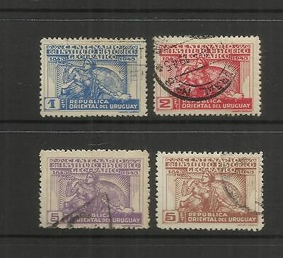 Uruguay ~ 1943 Cent. Historical & Geographical Institute (Postally Used Set)