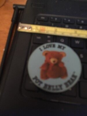 Vtg Pin Button; I love my Pot Belly bear
