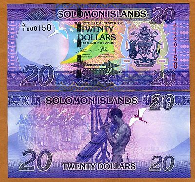 Solomon Islands, $20, ND (2017), P-New, A/1, UNC > Very Low S/Ns 0001XX