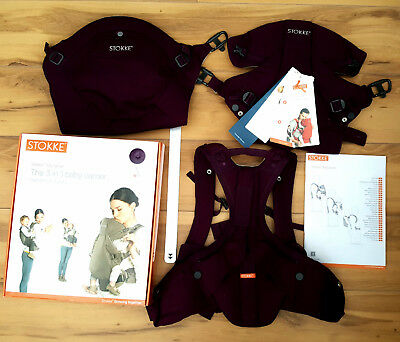 Stokke 3 in 1 Baby Carrier Purple pre-owned