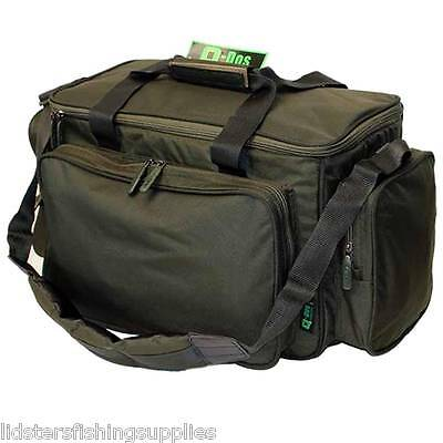 New Q DOS Carp Fishing Green Padded Carryall Tackle Bag Fully Insulated Holdall