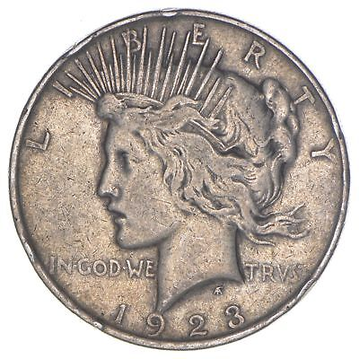 Over 90 Years Old! 1923 Peace Silver Dollar - 90% Silver *787