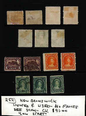 New Brunswick---Unused & Used----CV $91.00