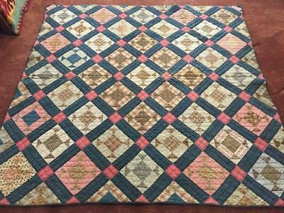 """1880's """"Hole in the Barn Door"""" Antique Quilt w/Provenance No 3"""