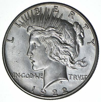 1922-S Peace Silver Dollar - San Francisco Minted - 90% Silver *759