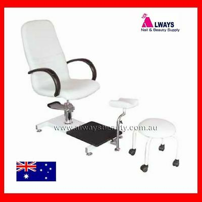 Pedicure Foot Spa Chair  Hydraulic Spa Station With Stool New