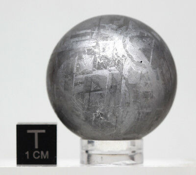 LARGE GIBEON IRON METEORITE Etched Sphere Specimen AUTHENTIC 141 GRAMS!!!
