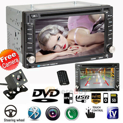 """2DIN Quad Core Android 3G 6.2"""" Double Car Radio Stereo MP5 DVD Player + Cam"""