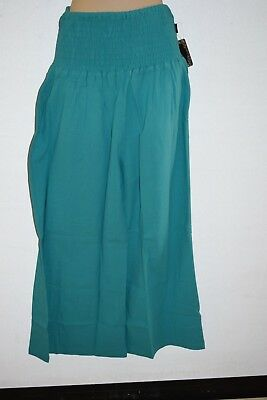 Pants Comfy Gypsy Genie womens ladies girls beach Casual aqua wide leg 14