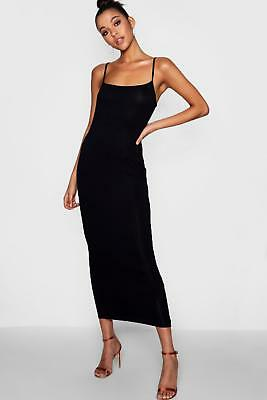 Boohoo Womens Tall Nadia Jersey Square Neck Maxi Dress