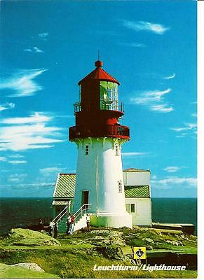 Lighthouse - Lindesnes - Norway,-Unposted Postcard