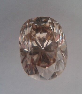 Diamant Certifié  IGI-Ovale 0,60 carats VS2 oval light brown natural diamond