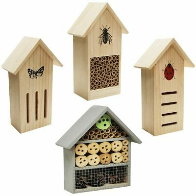 Wooden Amimal Insect Bug Creature Hotel Nest Box House Home Wildlife Wood Garden