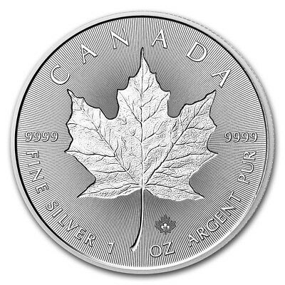 CANADA 5 Dollars Argent 1 Once Incuse Maple Leaf  2018