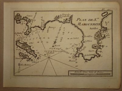 Cannes Antibes France Frankreich - Kupferstich engraving Karte map Allezard 1801