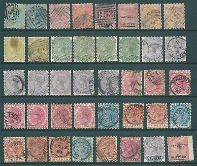 MAURITIUS used collection of Queen Victoria stamps for study and postmarks