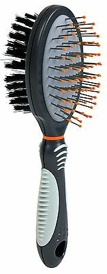 OFFER Trixie Soft / Wire Double Sided  Dog Brush - Removes Dead Hair - All Sizes