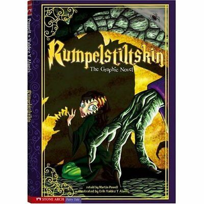 Rumpelstiltskin: The Graphic Novel (Graphic Spin) - Library Binding NEW Powell,