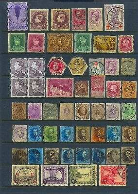 BELGIUM , 54 x stamps fine used , minor faults , unsorted