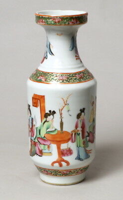 A Good Antique 19Thc Chinese Porcelain Famille Rose Vase, Perfect