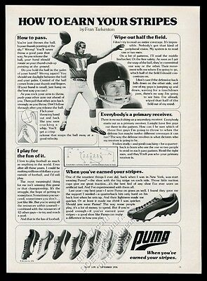 1976 Puma cleats shoes 7 models Fran Tarkenton photo vintage print ad