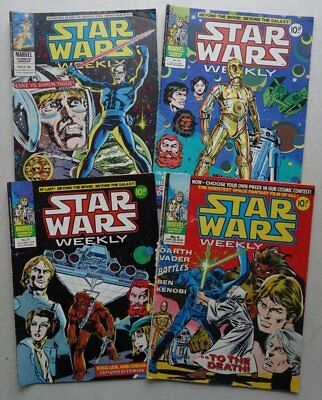 Star Wars Weekly comic #8, 21, 29, 56 (1978-1979) FR to VG (phil-comics)