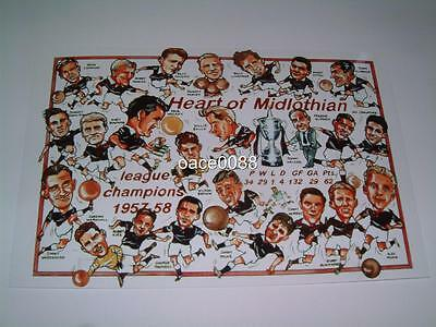 Heart Of Midlothian Fc Hearts Fc 1957-58 Scottish Division One Champions Photo