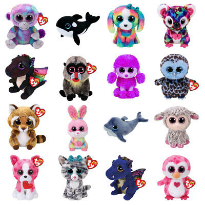 "Ty Beanie Boo Boos Plush - Choose Your Favourite Soft toy Character 6"" (15 cm)"