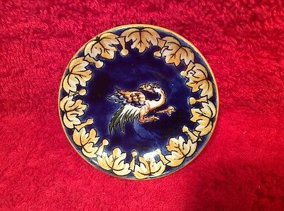 Vintage Gien French Faience Flying Dragon Butter Pat, ff356  GIFT QUALITY!!