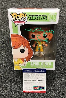Megan Fox Signed TMNT Ninja Turtles April FUNKO POP Doll PSA/DNA COA