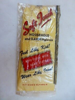 Vintage Soft Touch Glamorous Work Rubber Gloves Size 5-1/2 to 8 Brookville Co.