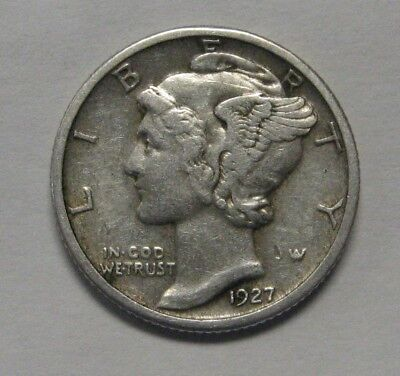 1927 Mercury Head Silver Dime Grading in the FINE Range Nice Original Coins