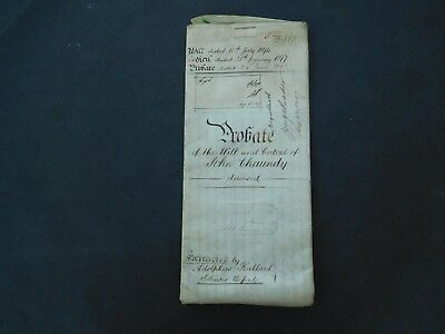 Antique Vellum Indenture 1897 Probate Ascott under Wychwood 4 pages