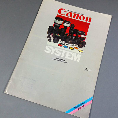 Canon 1985/86 System Lenses and Accessories Catalog en inglés E