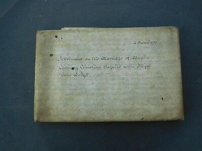 Antique Vellum Indenture 1775 Elizabeth Croughton Isle of Wight 3 pages