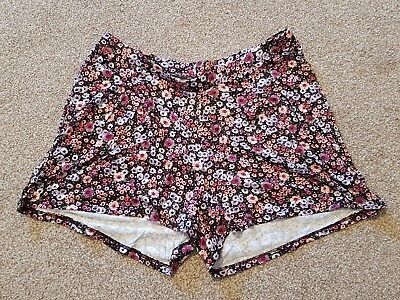 ASOS maternity shorts, size 10, black/pink/purple floral print, new BNWT!