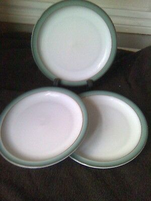3 Denby Regency Green Side Plates