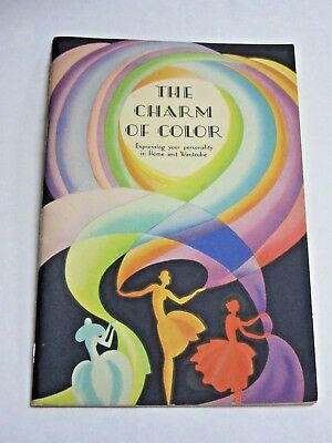 VTG 1933 Copy The Charm of Color Putnam Fadeless Dyes Tints Advertising Booklet