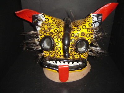 321 DANCE REAL SUPERB TIGER COLLECTIBLE MASK made out of leather true dance