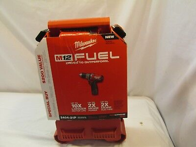 """Milwaukee 2404-21P M12 FUEL 1/2"""" Hammer Drill / Driver Kit with Packout Bit Case"""