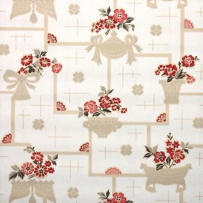 1940S VINTAGE KITCHEN Wallpaper Red Apples Fruit and ...