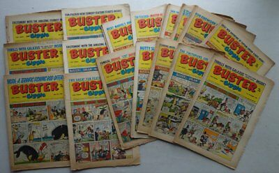 Buster and Giggle comic 1968 x 20 FR, GD, VG (phil-comics)