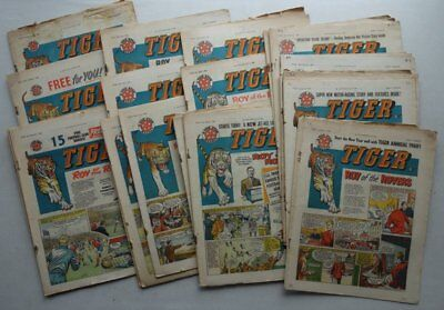 Tiger comic 1960 x 25 Most Incomplete (7 x complete) (phil-comics)
