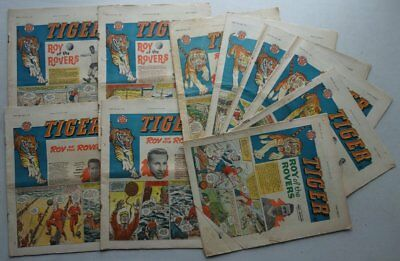 Tiger comic 1961 x 10 Four VG, Six Incomplete (phil-comics)