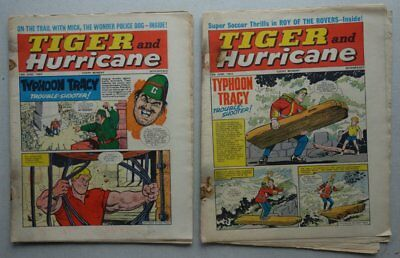 Tiger and Hurricane comic 12/6 and 19/6 (1965) FR/GD (phil-comics)