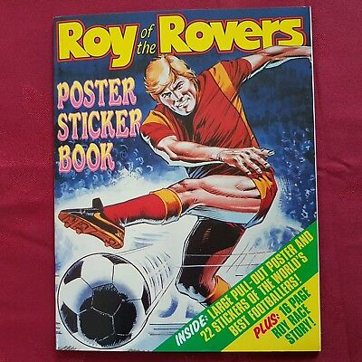 Wonderful Roy Of The Rovers Book-22 World`s Best Footballers-Stickers & Poster